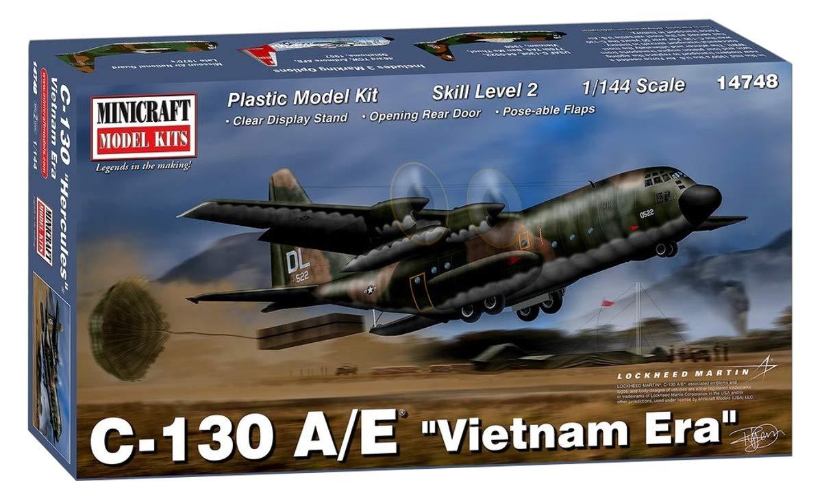 Minicraft Models 014748 1//144 C-130 A//E Vietnam /Ära Modellbausatz verschieden
