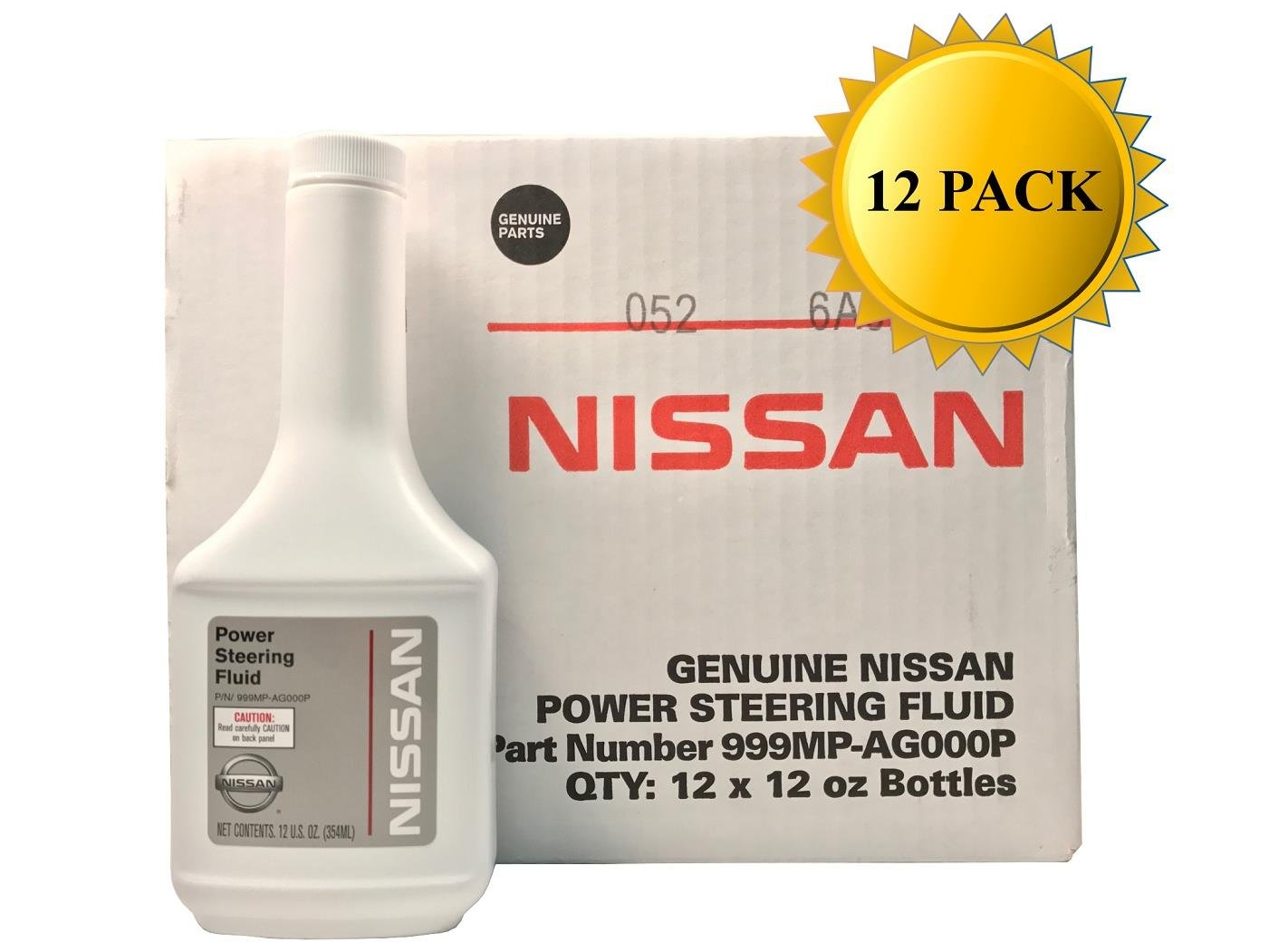Genuine Nissan OEM Power Steering Fluid 999MP-AG000P (Case of 12)
