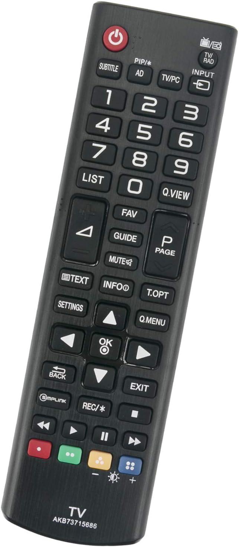 ALLIMITY AKB 73715686 Reemplace el Control Remoto por LG LED LCD TV 55LY330C 50PB5600 47LN549C 43LF540V 42UB820V 42LP360H 42LN540V 42LF561 40UF671V 32LN540V 32LN5400 32LF510B 24MT47D: Amazon.es: Electrónica