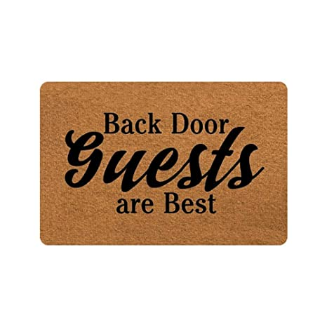 Personalized Welcome Mat Hello Mat   Custom Back Door Guests Are Best  Doormat Entrance Mat Floor