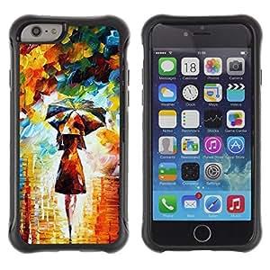 LASTONE PHONE CASE / Suave Silicona Caso Carcasa de Caucho Funda para Apple Iphone 6 PLUS 5.5 / Painting Colorful Girl Woman Umbrella Art