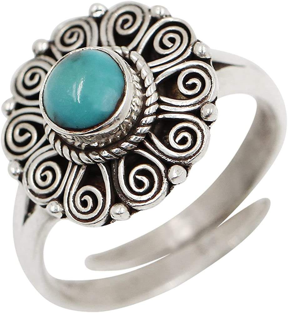 size adjustable ring gold plated or rose plated 925 sterling silver Stacking ring with real turquoise birthstone December