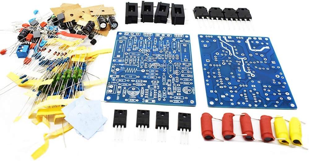 Basage 2Pcs QUAD405 Placa de Amplificador de Potencia de Audio 100W X 2 Amplificador de Audio EstéReo DIY Kit Junta Ensamblada