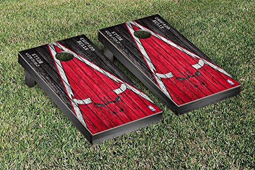 Chicago Bulls NBA Basketball Regulation Cornhole Game Set Triangle Weathered Version by Victory Tailgate