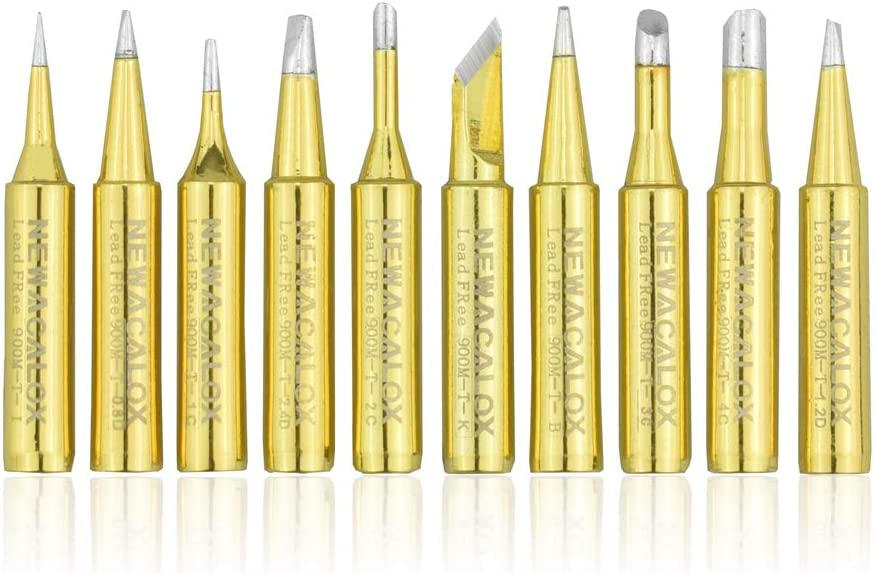 2X 900M-T-1C Solder Soldering Iron Tip Oxygen-free Coppers Replacement Iron.Tips