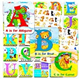 Animal ABC Board Books Set Toddlers Babies -- Pack of 24 ''My First'' Mini Board Books with Stickers (Alphabet Board Books)