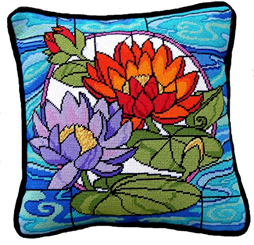 (Stained Glass Waterlilies)