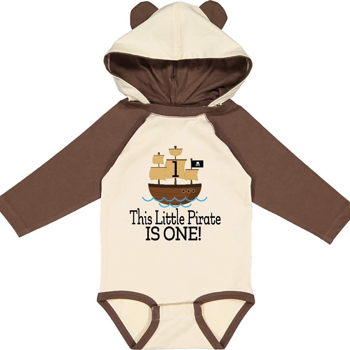 inktastic Pirate 1st Birthday Party Long Sleeve Creeper