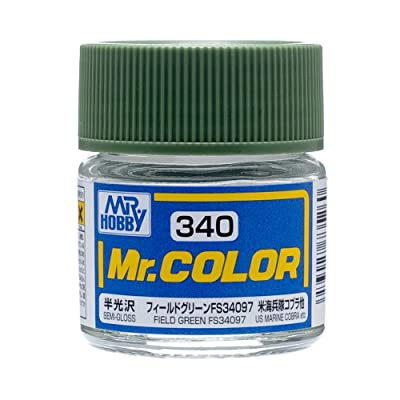 Mr. Color 340 Field Green FS34097 (Semi-Gloss/Aircraft) Paint 10ml. Bottle Hobby: Toys & Games