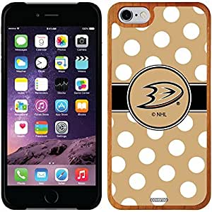 fashion case iphone 5s Madera Wood Thinshield Case with Anaheim Ducks Polka Dots Design