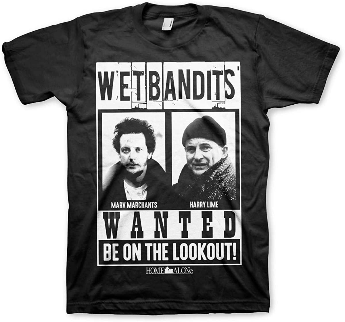 Home Alone Officially Licensed Wet Bandits Mens T-Shirt (Black)