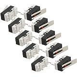 Interruptor - SODIAL(R) 10pzs AC 125V 1A SPDT 1NO 1NC Interruptormicro de palanca de bisagra larga momentaneo