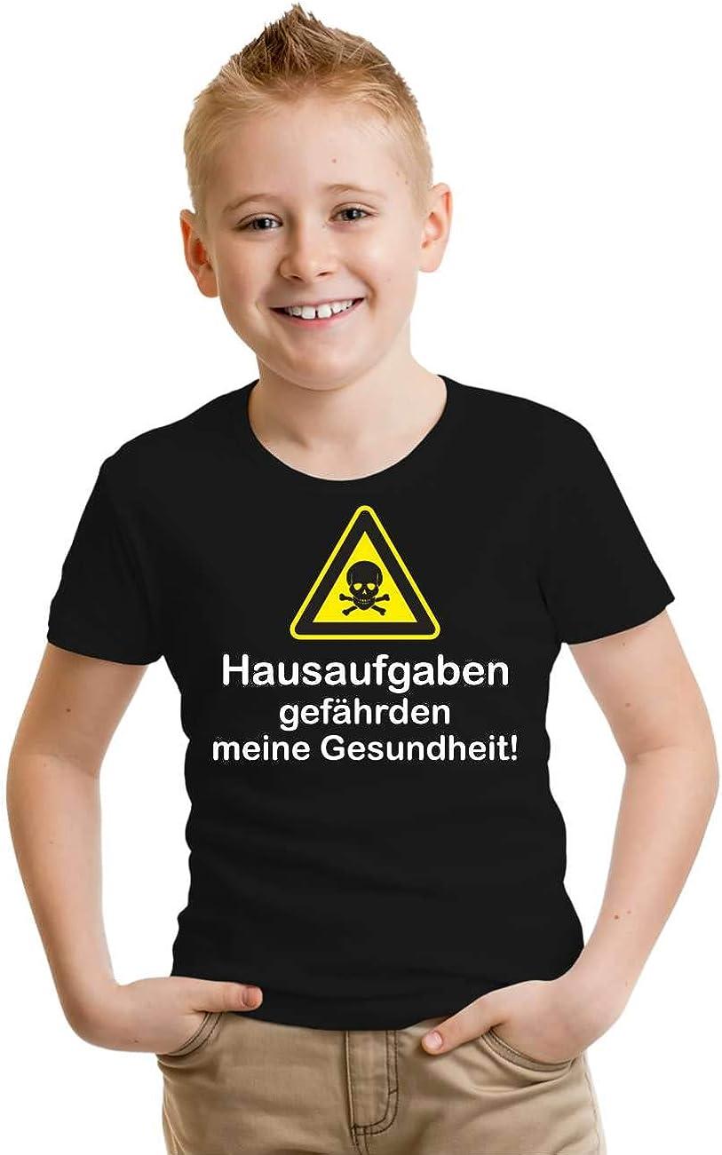 Kinder T-Shirt Hausaufgaben gef/ährden Meine Gesundheit Gr/ö/ße 86-164