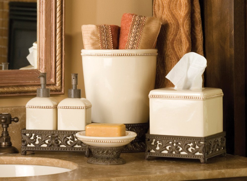 Gracious Goods GG Collection Ceramic Square Tissue Box - Cream by Gracious Goods (Image #2)