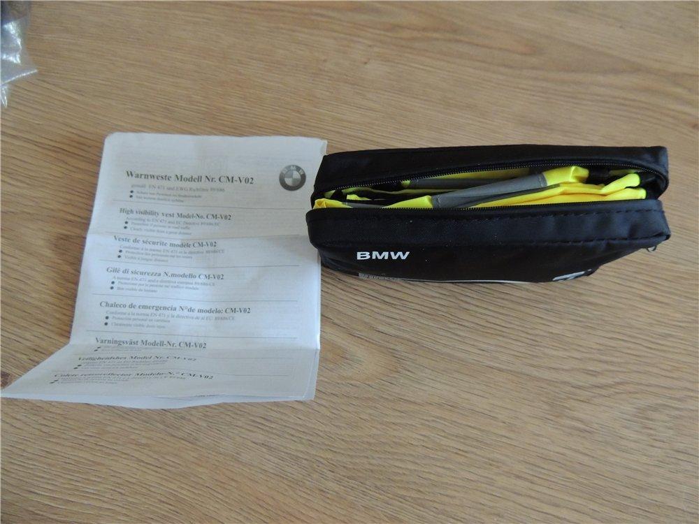 Original BMW Chalecos de seguridad amarillo ne/ón en Twin pack