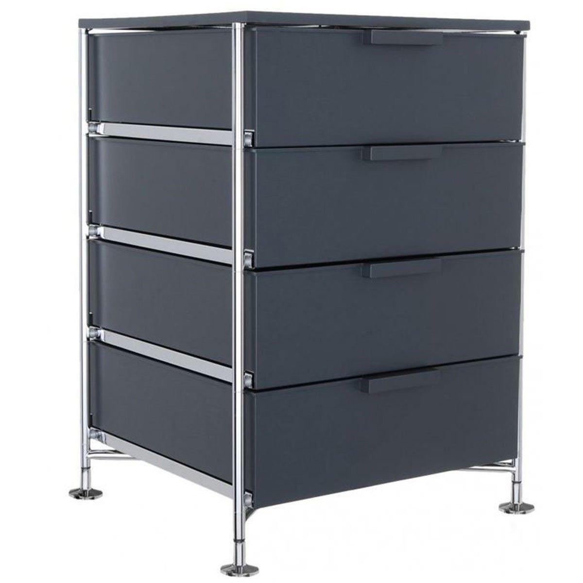 Kartell 2335L5 Container Mobil, 4 Schubladen, matt schiefergrau