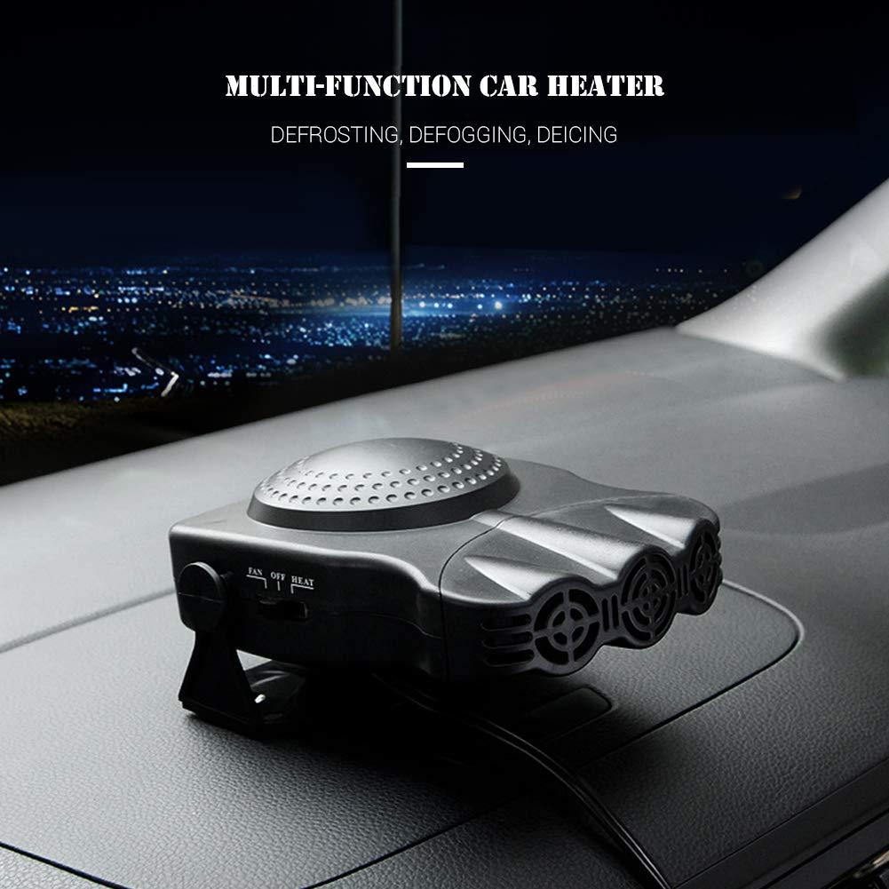 Campeggio Garage Riscaldamento Auto 2 in 1 12V Portable Heater 150 Watt Riscaldamento veloce Sbrinamento rapido Defogger Demister Ventola di raffreddamento del calore del veicolo per Camper Barca