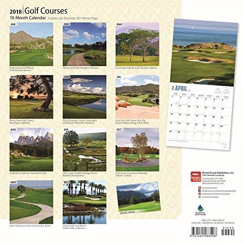 Golf Courses 2018 Wall Calendar Photo #3