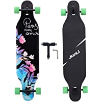 Junli 41 Inch Freeride Skateboard Longboard - Complete Skateboard Cruiser for Cruising, Carving, Free-Style and Downhill