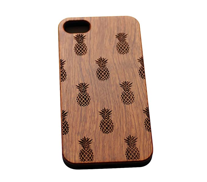 new style 8edf1 a4dd5 VIVIPOW Wood Pineapples Phone Case Compatible iPhone 7 Case(4.7'),Wooden  Phone Case Compatible iPhone 7 Case 4.7