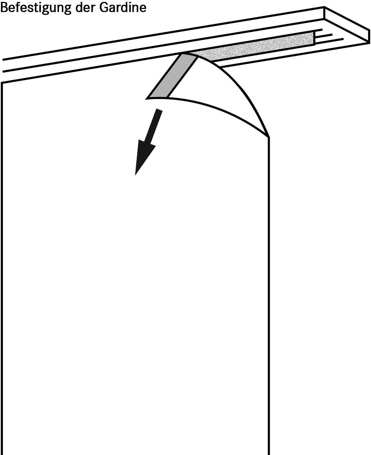 Fl/ächenvorhang Scherli Schiebevorhang Dekostoff 245 x 60 cm H//B gelb Schiebetechnik enthalten