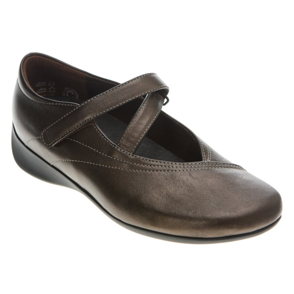 Wolky Comfort Mary Janes Silky B004D49MQW 38 M EU|Bronze Soft Metallic Leather