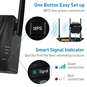 WiFi Extender- WiFi Range Extender Up to 750Mbps, WiFi Signal Booster, 2.4 & 5GHz Dual Band WiFi Repeater with Access Ethernet Port, 360° Full Coverage, Easy Set-Up. (750Mbps) (Color: 750Mbps)