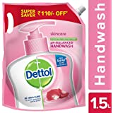Dettol pH-Balanced Skincare Liquid Handwash Refill Super Saver Pack, 1500ml