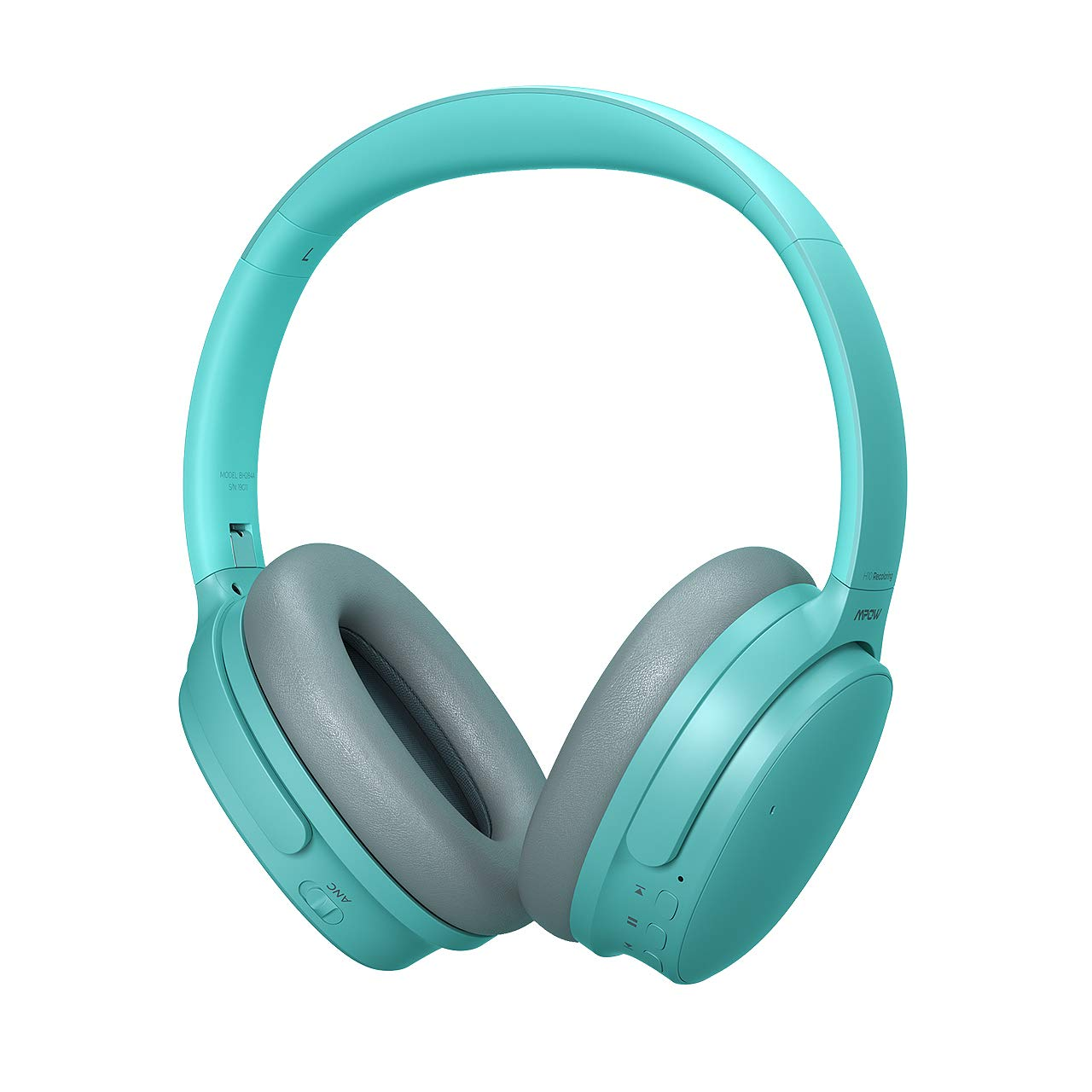 Mpow H10 Dual-Mic Noise Cancelling Bluetooth Headphones, [2019 Edition] ANC Over-Ear Wireless Headphones with CVC 6.0 Microphone, Hi-Fi Deep Bass, 30hrs Playtime, Green
