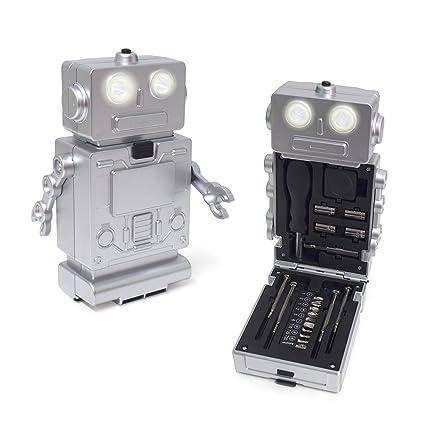 Balvi Set Herramientas Robot Color Plateado con luz, 1 ...