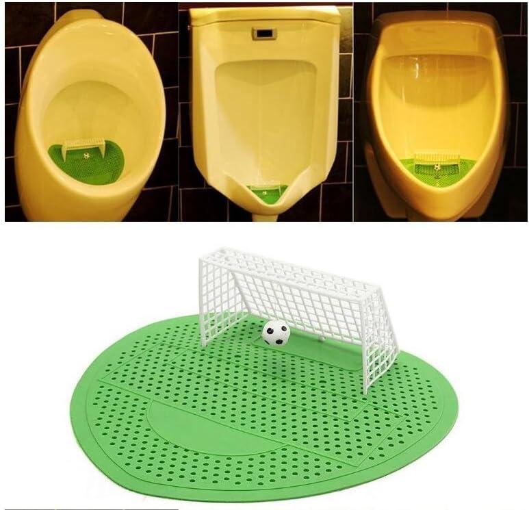 Lindou Filtre de Nettoyage pour Toilettes pour Homme Motif But de Football Vert