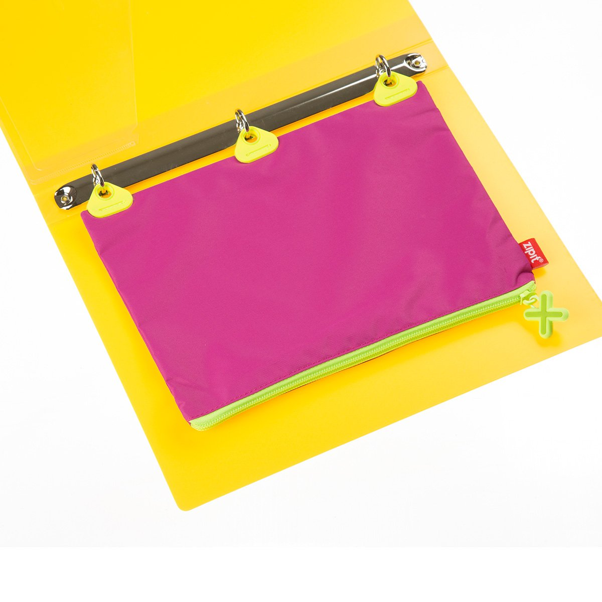 Purple ZIPIT Rivets 3 Ring Pencil Case