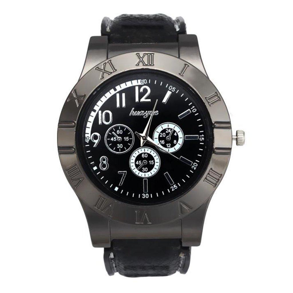 POTO ミリタリークォーツ腕時計 2017年 防風 カジュアル USB タバコ シガー 無炎ライター B071L5TWNX