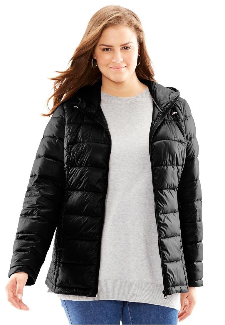Women's Plus Size Packable Puffer Jacket