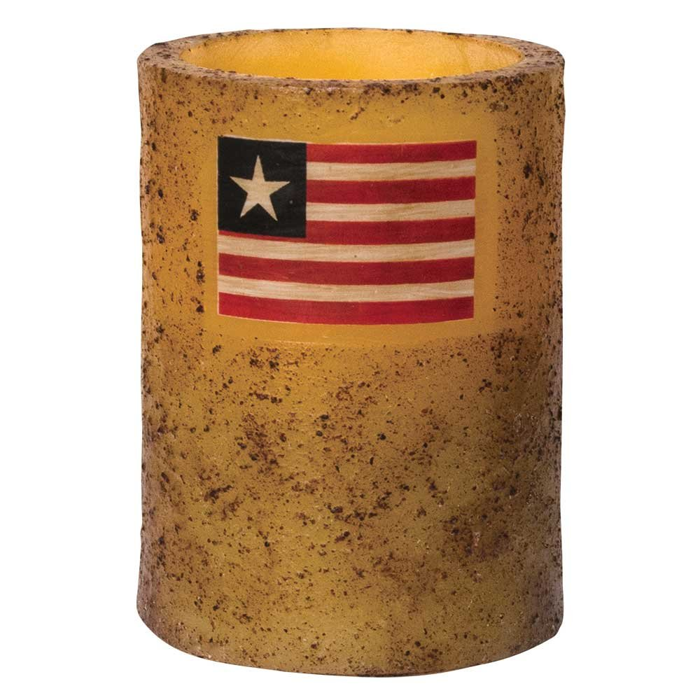 Hearthside Collection Burnt Ivory Flag Timer Pillar