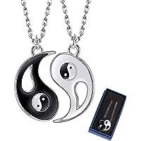 ZoneYan Collar Ying Yang,Jewelry Puzzle Colgante en diseño Yin-Yang para niños, niñas, Mejores Amigos, Amantes y Parejas…