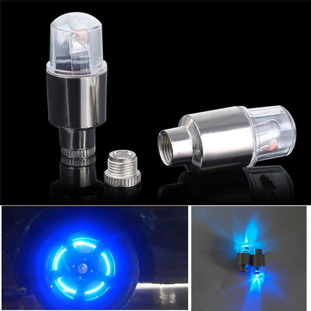 Auto About1988 LED wasserdichte Reifen Ventilkappen Neonlicht Auto Zubeh/ör Fahrradlicht Auto Motorrad oder LKW geeignet f/ür Fahrrad