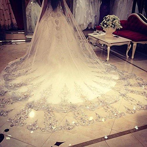 WWJ Wedding Veil One-tier Bride Headpieces Accessories Ch...