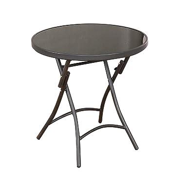 ZHESHEN Table De Jardin Ronde Bistrot - Table De Balcon ...