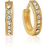 Mahi Gold-Plated Hoop Earring For Women Gold - ER1100183G