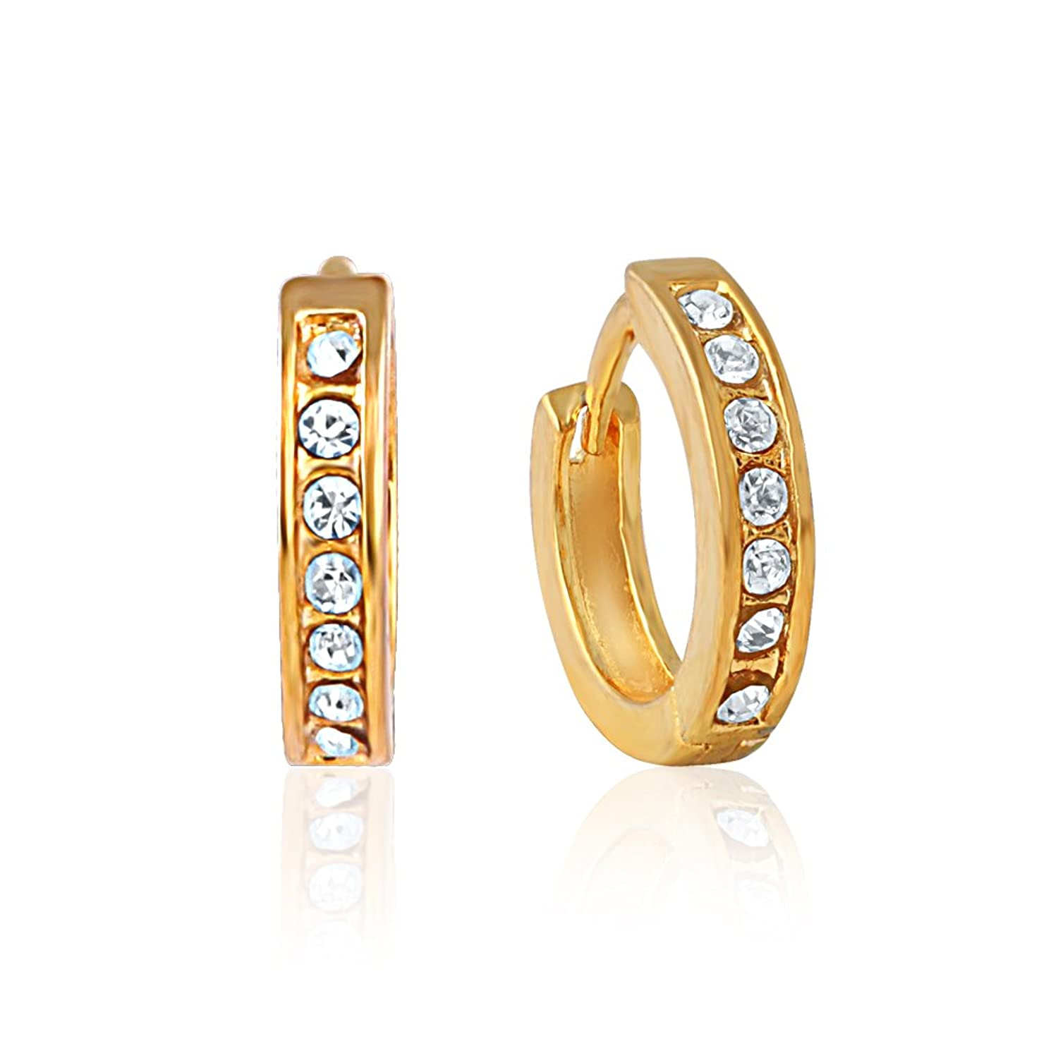 designs for hoop watch ring earrings women golden latest earring gold