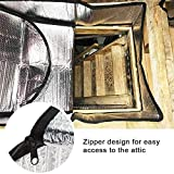 "Attic Stairs Insulation Cover for Pull Down Stair - 25"" X 54"" X 11"" Class A Fireproof, Attic Stairway Insulator, Energy Saving Door Blanket, Ladder Hatch Tent, Insulated Stairs, Easy Access Zipper"