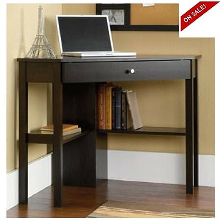 Easy&FunDeals Mesa de Escritorio esquinera de Madera con estantes ...