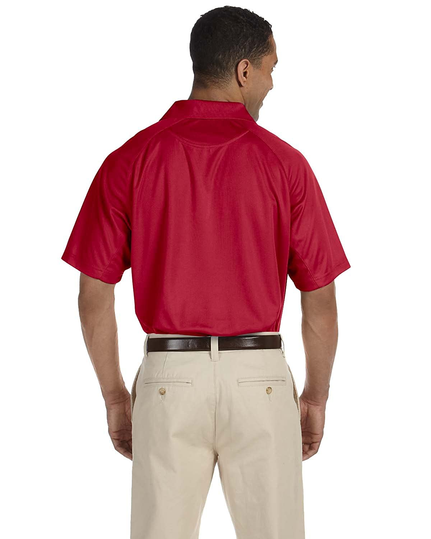 Harriton Mens 3.8 oz M Polytech Mesh Insert Polo RED