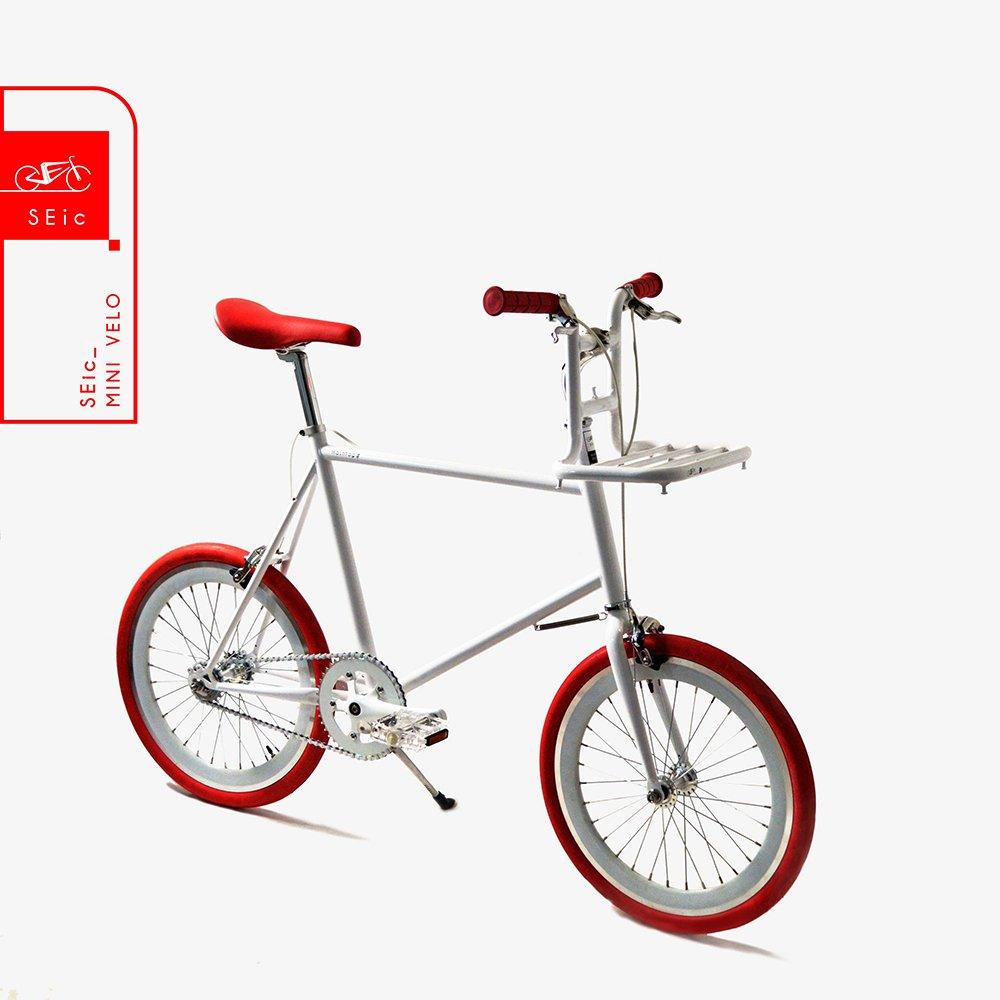 <<台湾SEic自転車工場直送>>超軽量スタイリッシュデザイン20インチSRAM AUTOMATIX 2段階自動変速_シティサイクルミニベロSEic Mini Velo Hashrag-#wh B07DVCY22D