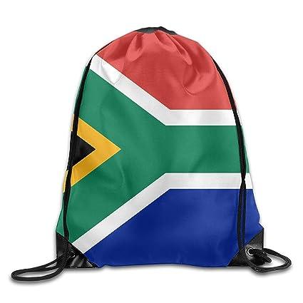 Daisylove Bandera de Sudáfrica Personalizada Gimnasio con cordón Bolsas Mochila de Viaje Mochila Colegio