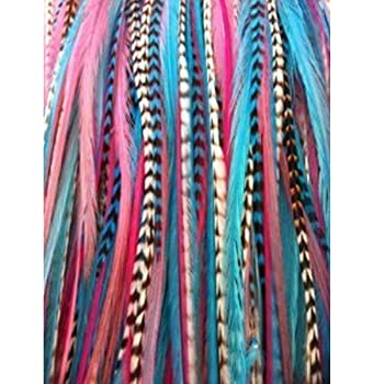 Mermaid Mix Long Thin Feathers for Hair