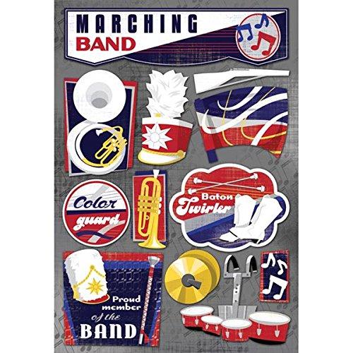 Single Page Scrapbook Layout - Karen Foster 11581 Design Acid and Lignin Free Scrapbooking Sticker Sheet, The Marching Band