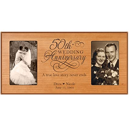 amazon com lifesong milestones 50th anniversary picture frame gift