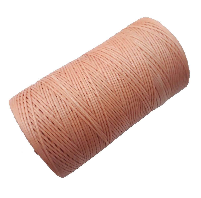 Perlin Wachsband 1mm Lachs Farbe Sattlergarn Geflochtet 100/% Polyester Forellenf/äden N/ähen Handwerk C323
